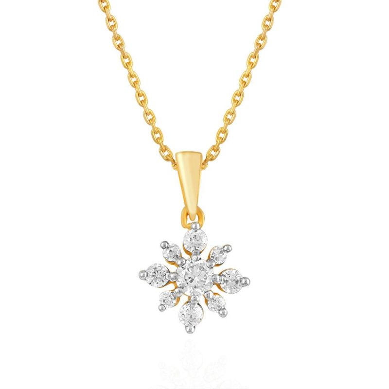 Buy Asmi Yellow Gold Diamond Pendant Npc514si-jk18y online