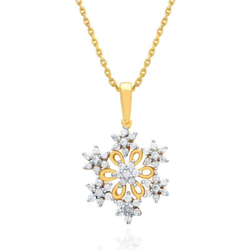 Buy Nakshatra Yellow Gold Diamond Pendant Npc704si-jk18y online