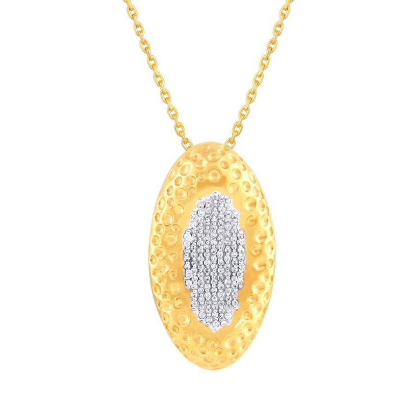 Buy Nirvana Yellow Gold Diamond Pendant Op079si-jk18y online