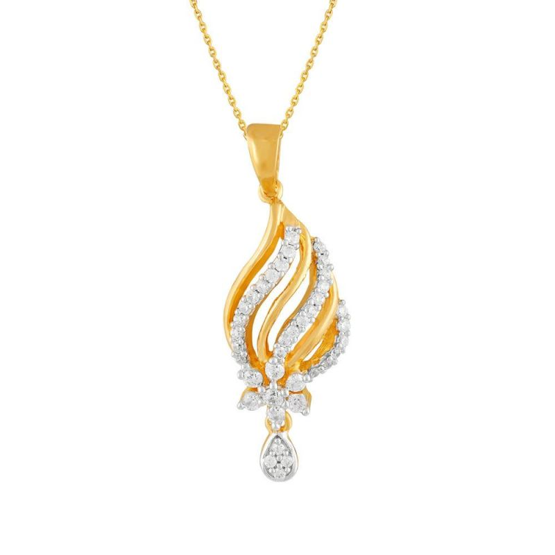 Buy Nakshatra Yellow Gold Diamond Pendant Opk835si-jk18y online