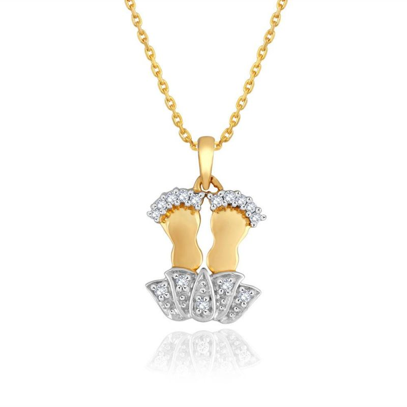 Buy Saumya Yellow Gold Diamond Pendant Pp10294si-jk18y online
