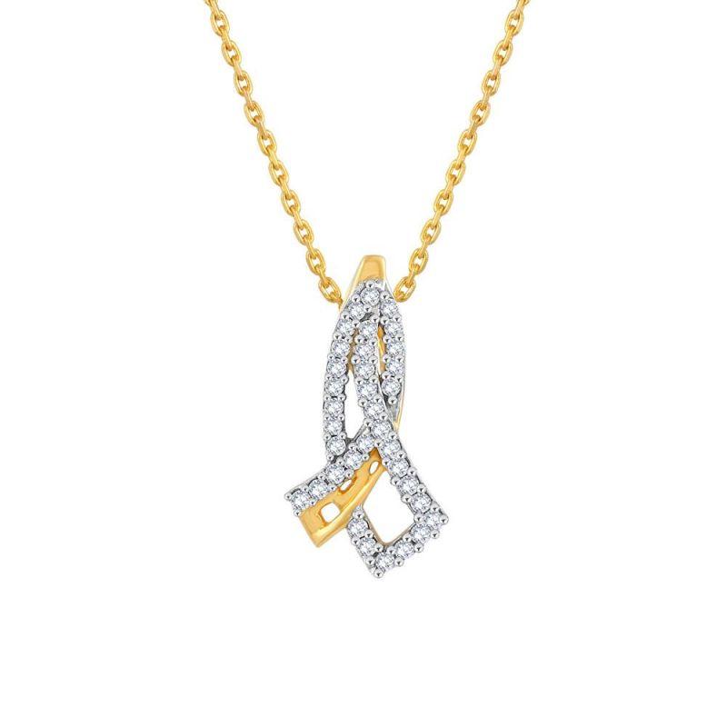 Buy Maya Diamond Yellow Gold Diamond Pendant Pp10584si-jk18y online