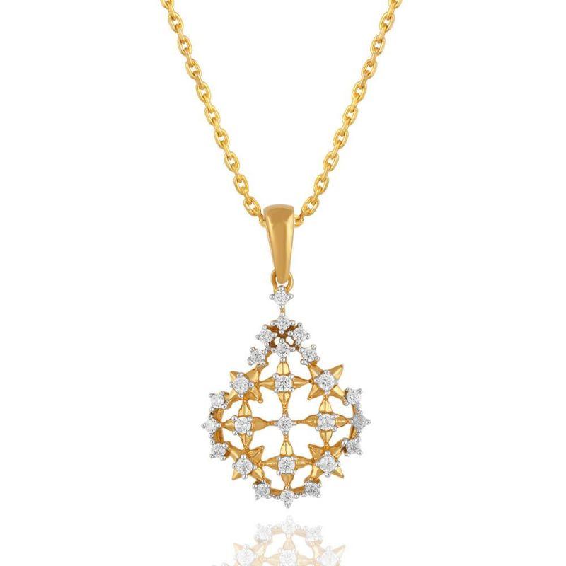 Buy Maya Diamond Yellow Gold Diamond Pendant Pp12074si-jk18y online