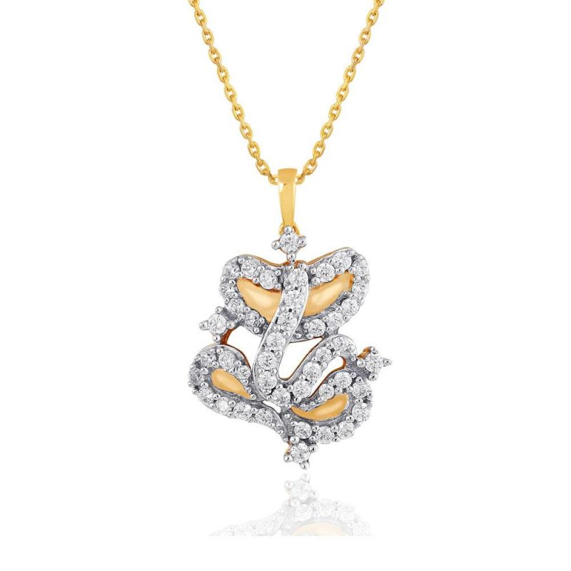 Buy Saumya Yellow Gold Diamond Pendant Pp12283si-jk18y online