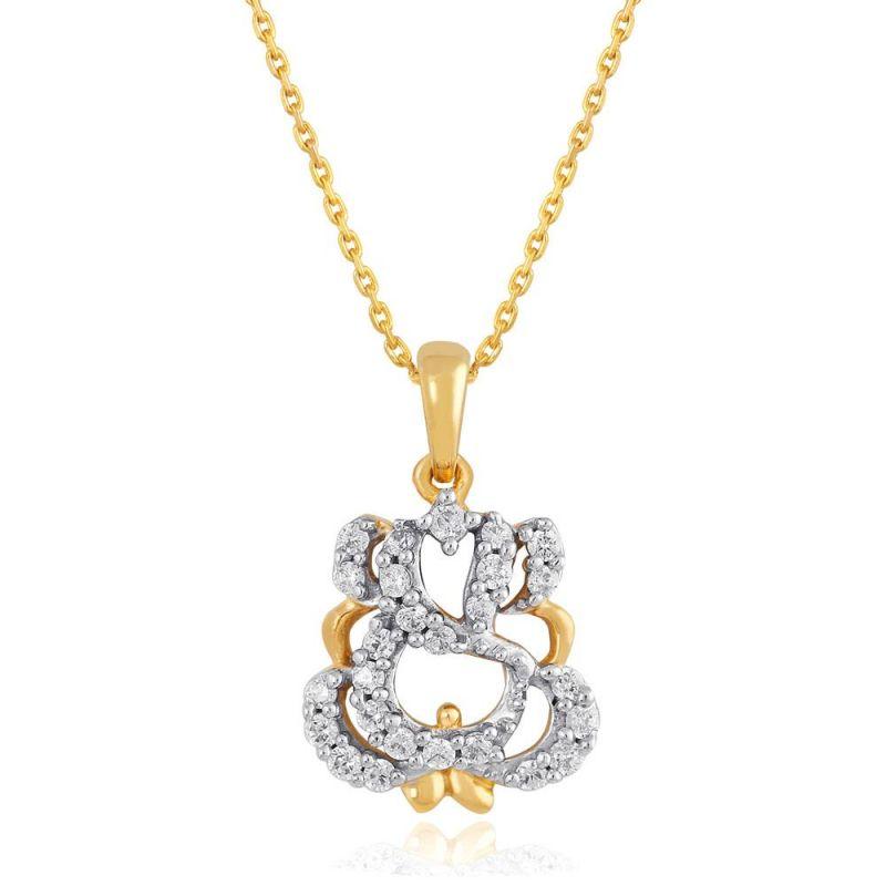 Buy Saumya Yellow Gold Diamond Pendant Pp12287si-jk18y online
