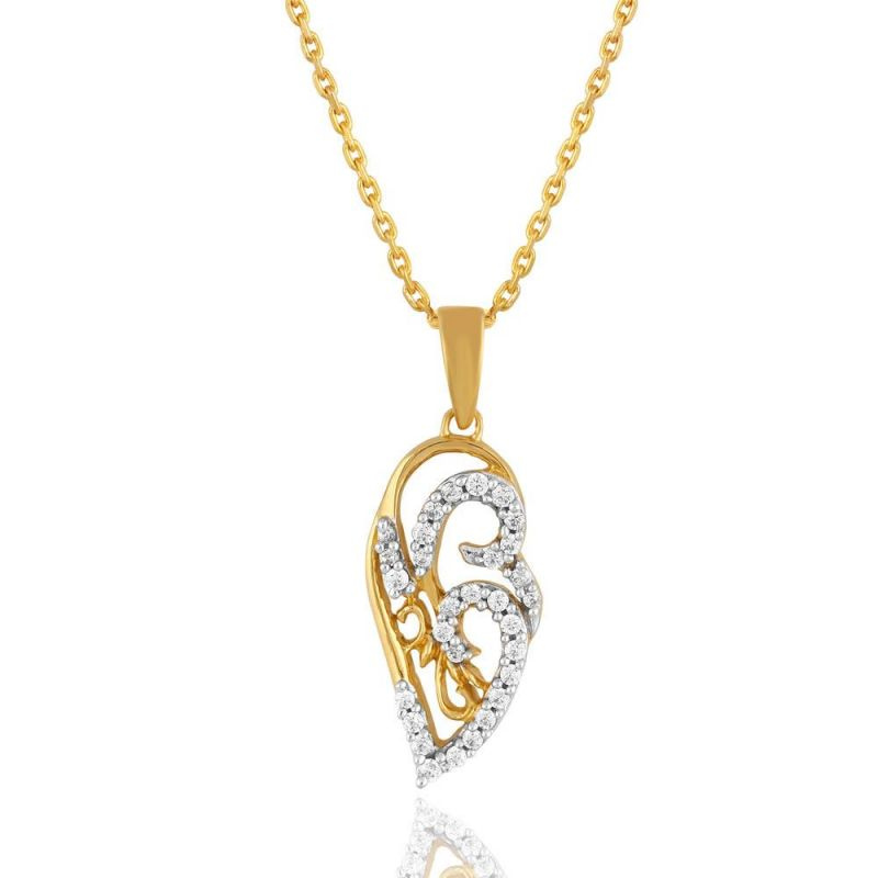 Buy Maya Diamond Yellow Gold Diamond Pendant Pp12379si-jk18y online