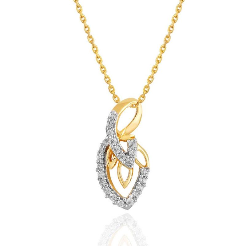 Buy Maya Diamond Yellow Gold Diamond Pendant Pp12666si-jk18y online