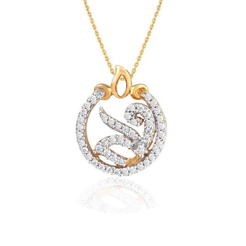 Buy Maya Diamond Yellow Gold Diamond Pendant Pp13022si-jk18y online