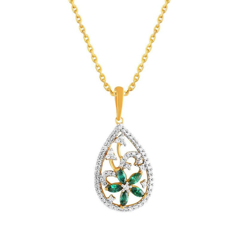 Buy Parineeta Yellow Gold Diamond Pendant Pran1p4022si-jk18y online