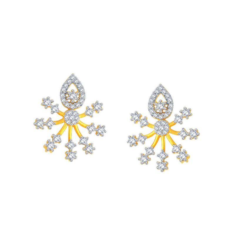 Buy Sangini Yellow Gold Diamond Earrings Aaep562si-jk18y online