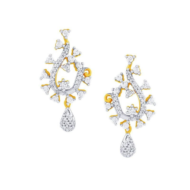 Buy Sangini Yellow Gold Diamond Earrings Aaet130si-jk18y online