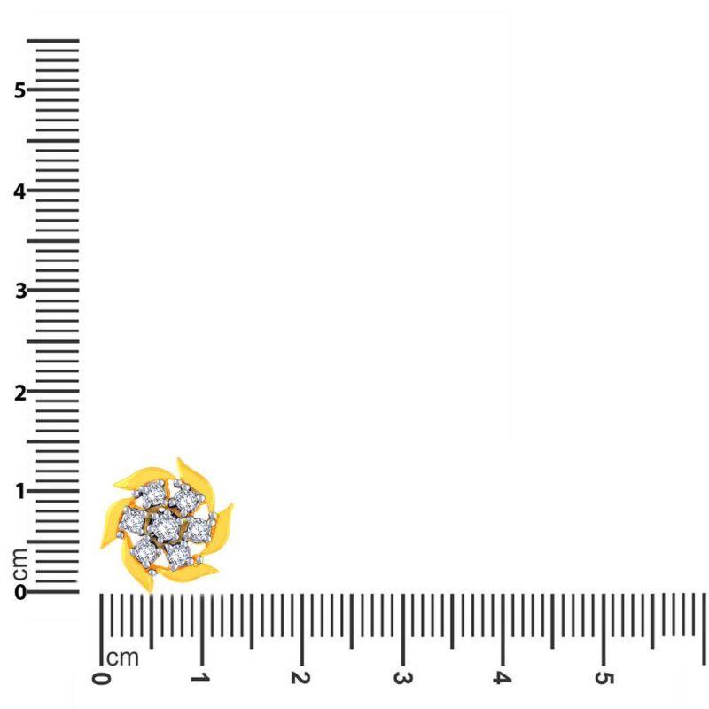 Buy Sangini Yellow Gold Diamond Earrings Ae036si-jk18y online