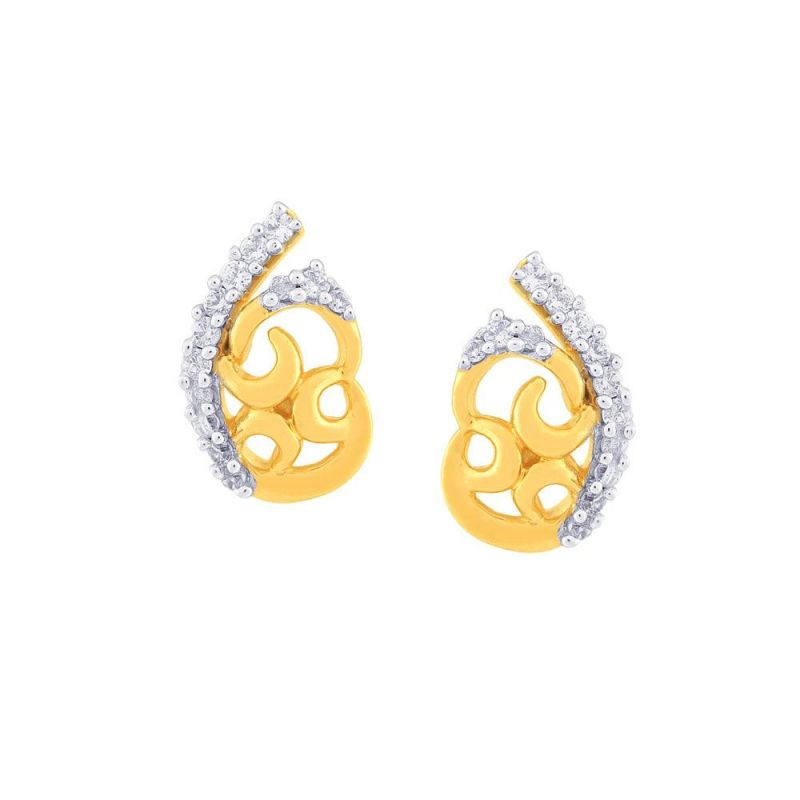 Buy Gili Yellow Gold Diamond Earrings Baep533si-jk18y online
