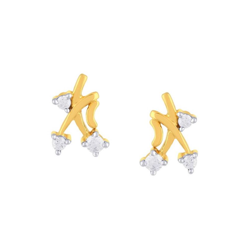 Buy Diya Yellow Gold Diamond Earrings online