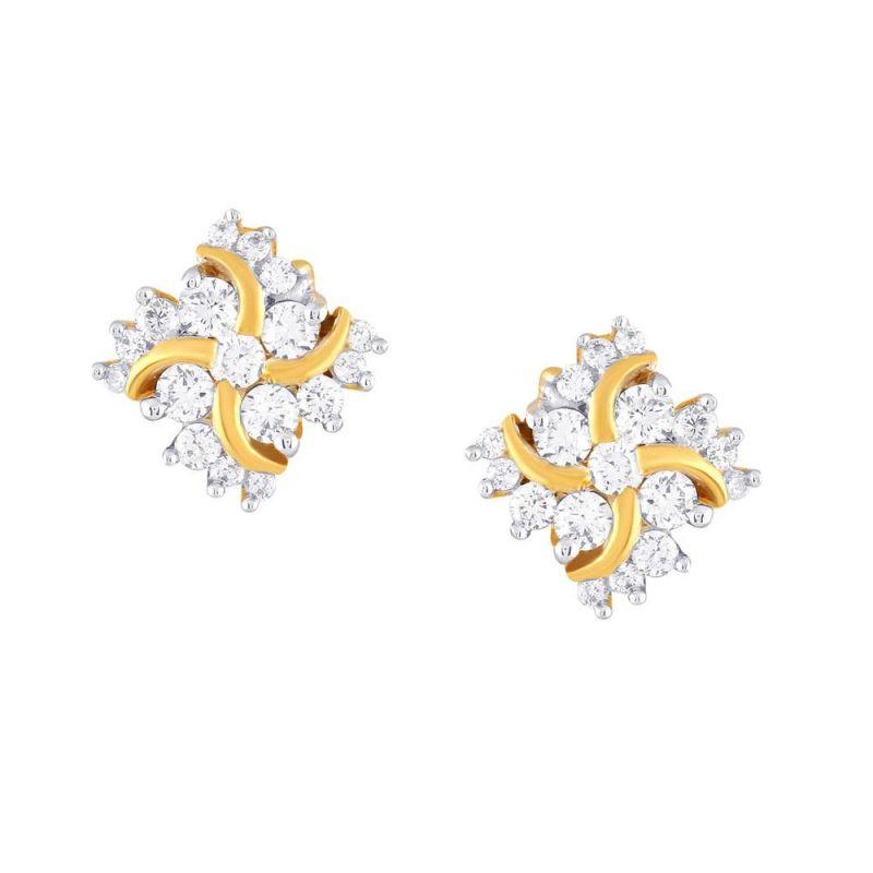 Buy Sangini Yellow Gold Diamond Earrings Ce208si-jk18y online