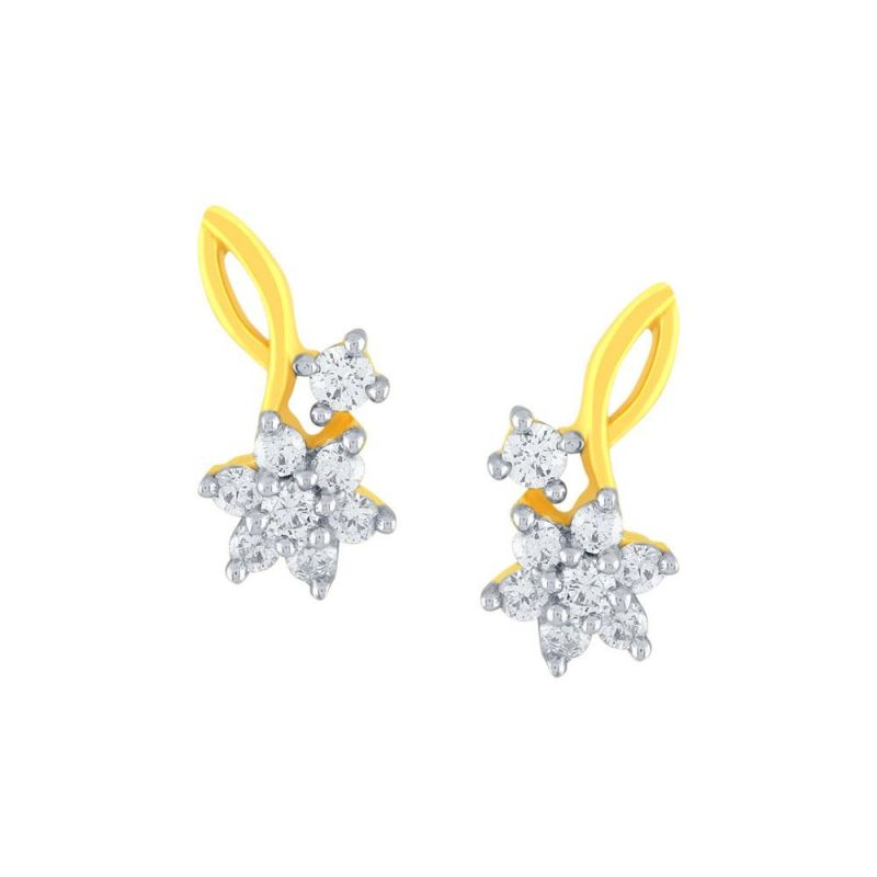 Buy Nakshatra Yellow Gold Diamond Earrings Ce440si-jk18y online