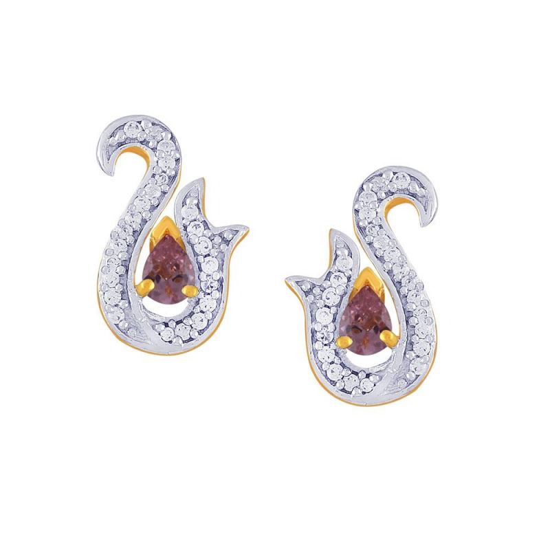 Buy Parineeta Yellow Gold Diamond Earrings Dde15445si-jk18y online