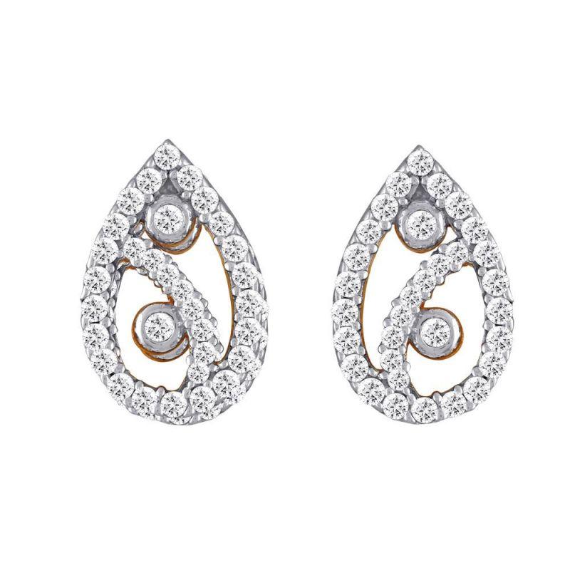 Buy Asmi Yellow Gold Diamond Earrings Dde15541si-jk18y online