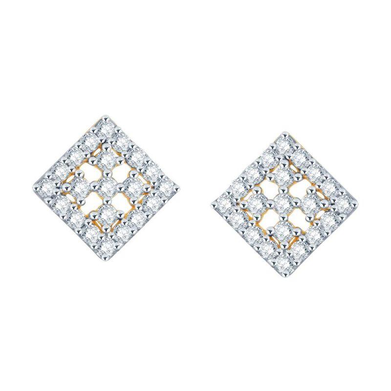 Buy Sangini Yellow Gold Diamond Earrings De096si-jk18y online
