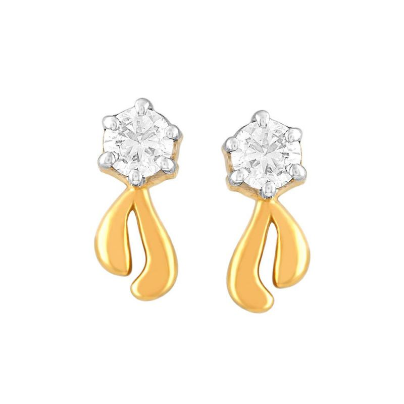 Buy Me-solitaire Yellow Gold Diamond Earrings De344si-jk18y online