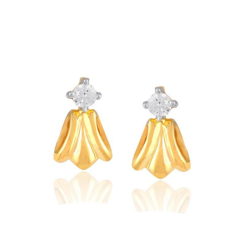 Buy Me-solitaire Yellow Gold Diamond Earrings De350si-jk18y online