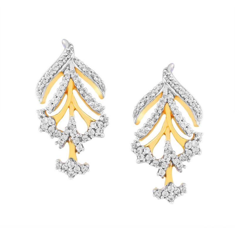 Buy Sangini Yellow Gold Diamond Earrings De560si-jk18y online