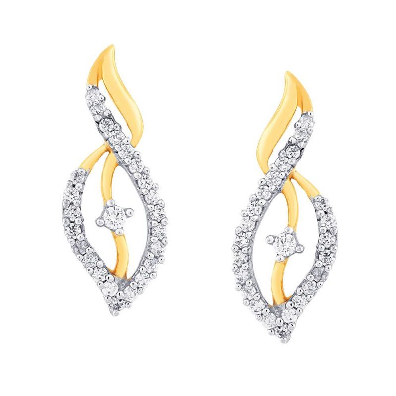 Buy Asmi Yellow Gold Diamond Earrings De709si-jk18y online