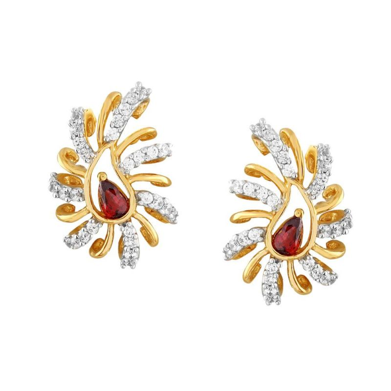 Buy Parineeta Yellow Gold Diamond Earrings De710si-jk18y online