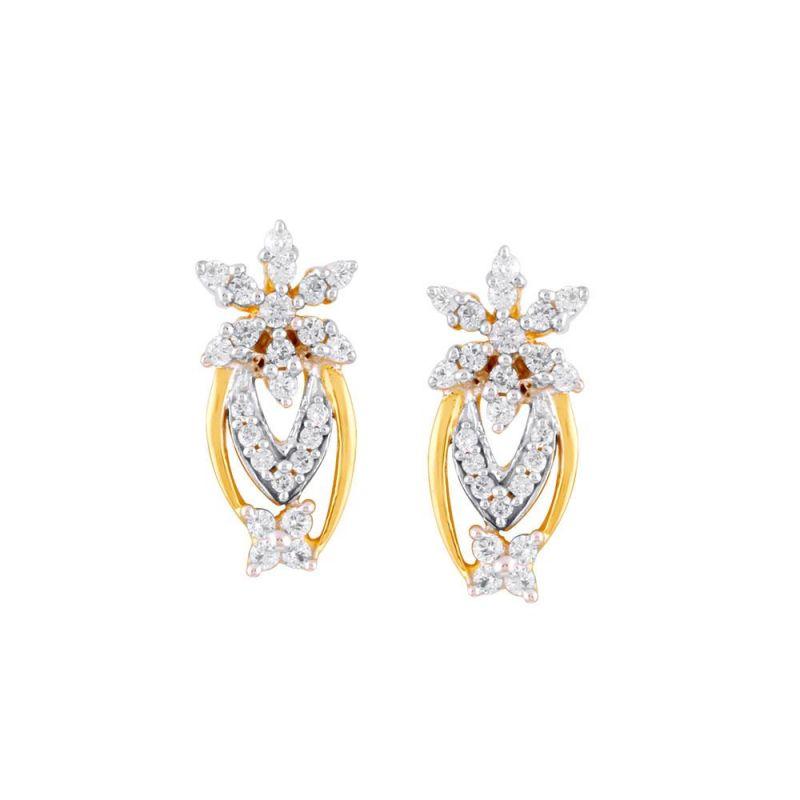 Buy Nakshatra Yellow Gold Diamond Earrings Dse00185si-jk18y online