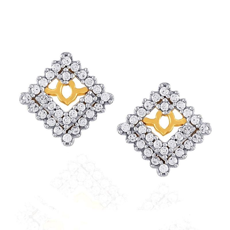 Buy Sangini Yellow Gold Diamond Earrings E24b00150si-jk18y online