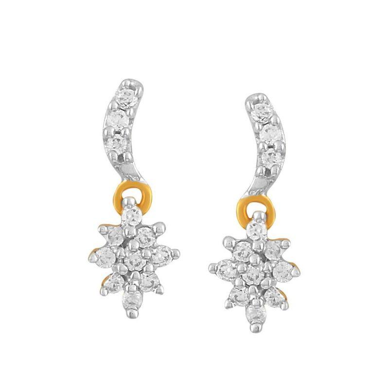 Buy Sangini Yellow Gold Diamond Earrings E24b00162si-jk18y online