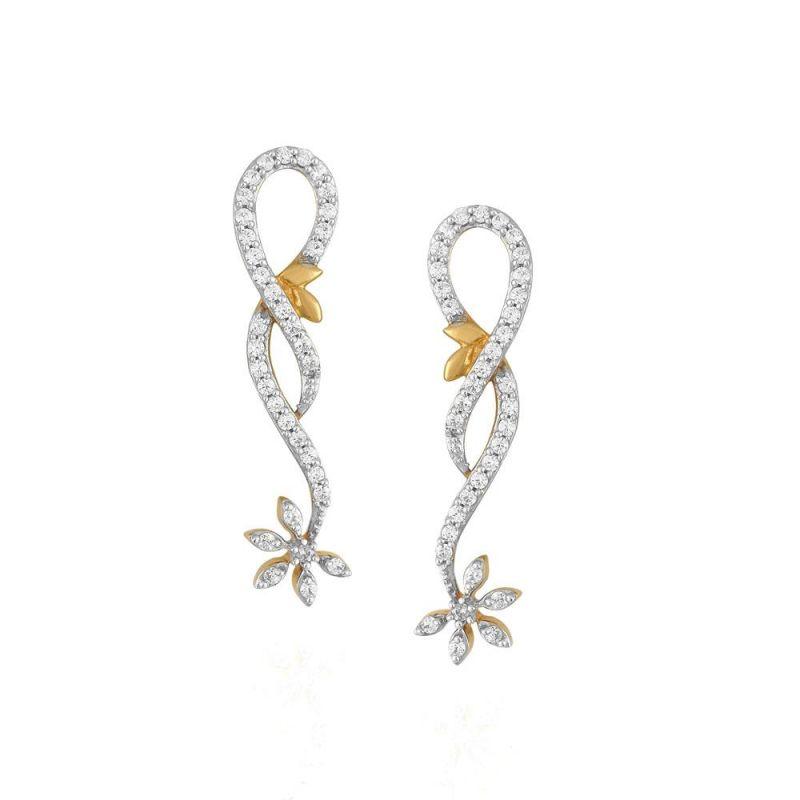 Buy Nakshatra Yellow Gold Diamond Earrings Ide00867si-jk18y online