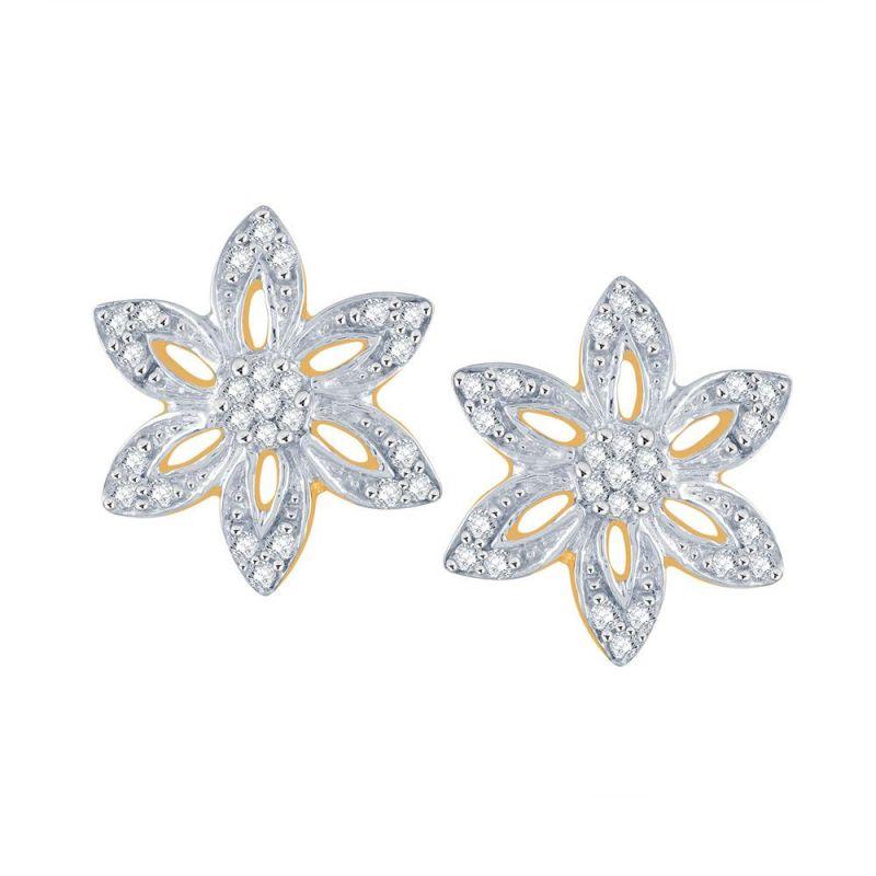 Buy Nirvana Yellow Gold Diamond Earrings Ie279si-jk18y online