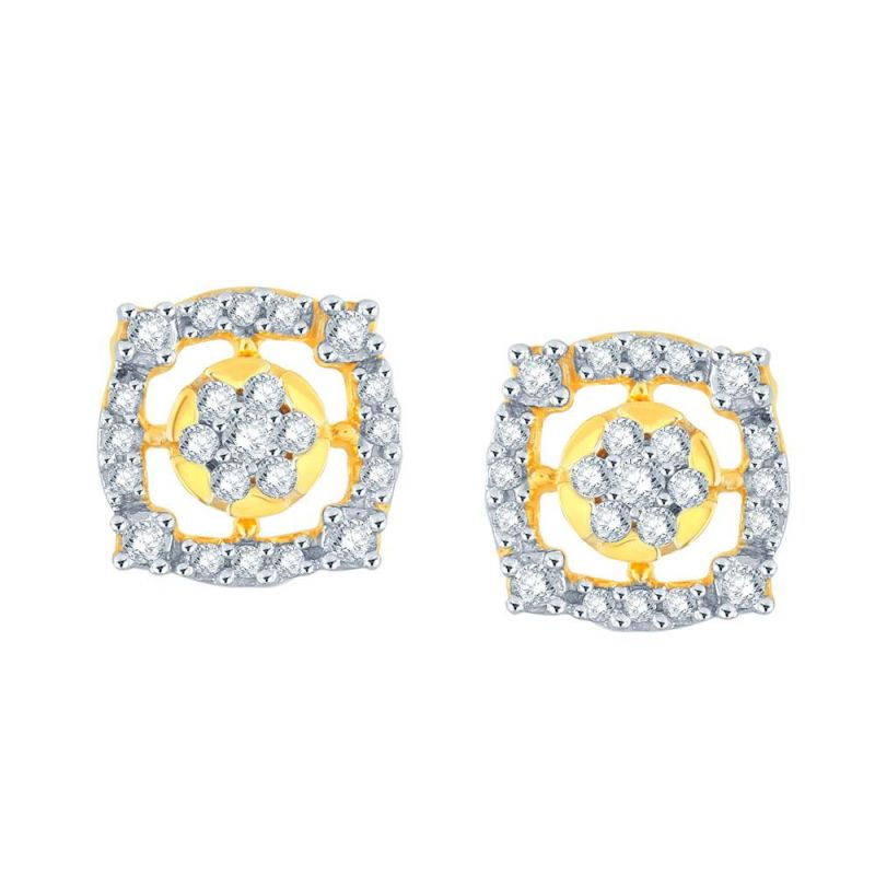 Buy Nakshatra Yellow Gold Diamond Earrings Le436si-jk18y online