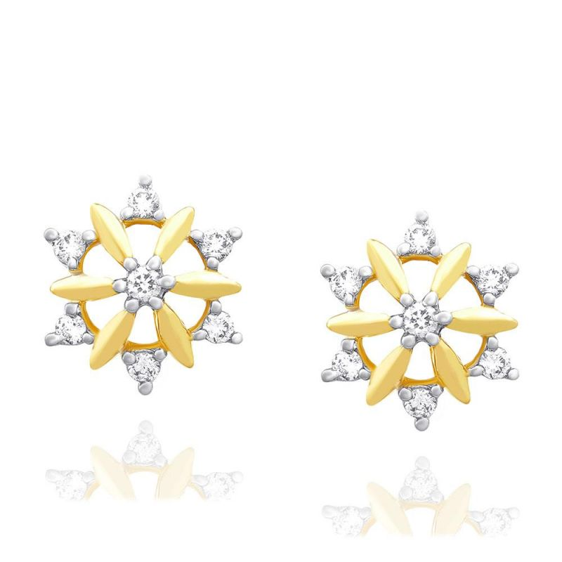 Buy Nakshatra Yellow Gold Diamond Earrings Nera497si-jk18y online
