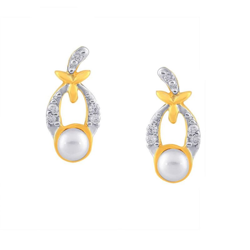 Buy Asmi Yellow Gold Diamond Earrings Oie00035si-jk18y online
