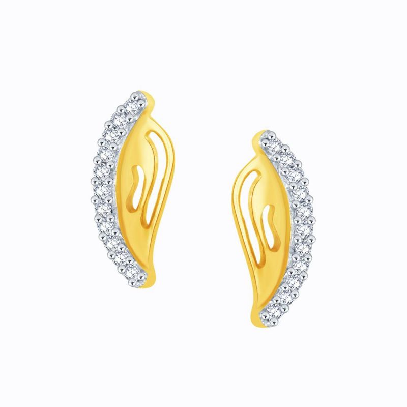Buy Gili Yellow Gold Diamond Earrings Pe10497si-jk18y online
