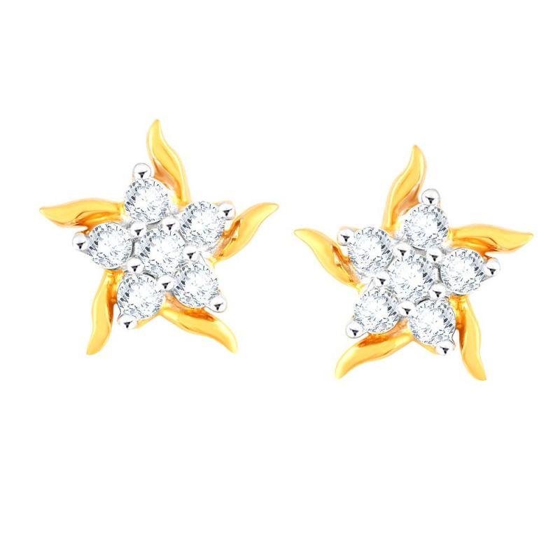 Buy Nakshatra Yellow Gold Diamond Earrings Pe17485si-jk18y online