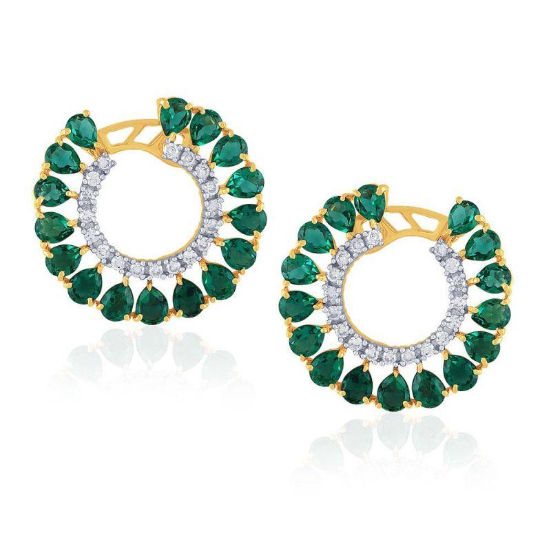 Buy Gili Yellow Gold Diamond Earrings Pran1e2490si-jk18y online