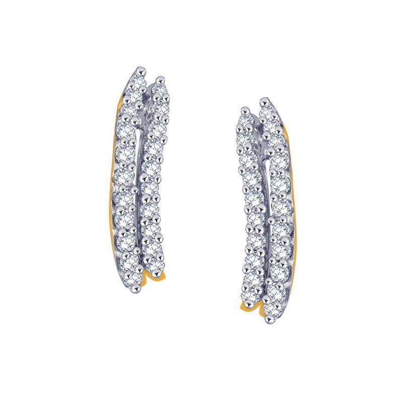 Buy Gili Yellow Gold Diamond Earrings Ue038si-jk18y online