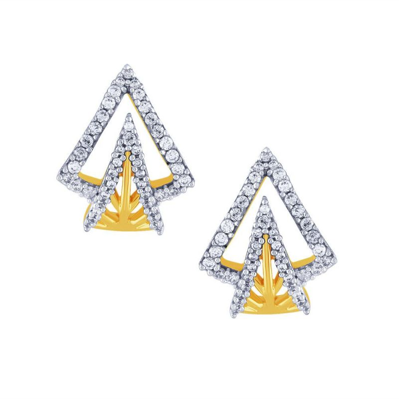Buy Sangini Yellow Gold Diamond Earrings Ye089si-jk18y online