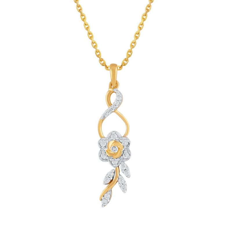 Buy Asmi Yellow Gold Diamond Pendant Aap432si-jk18y online