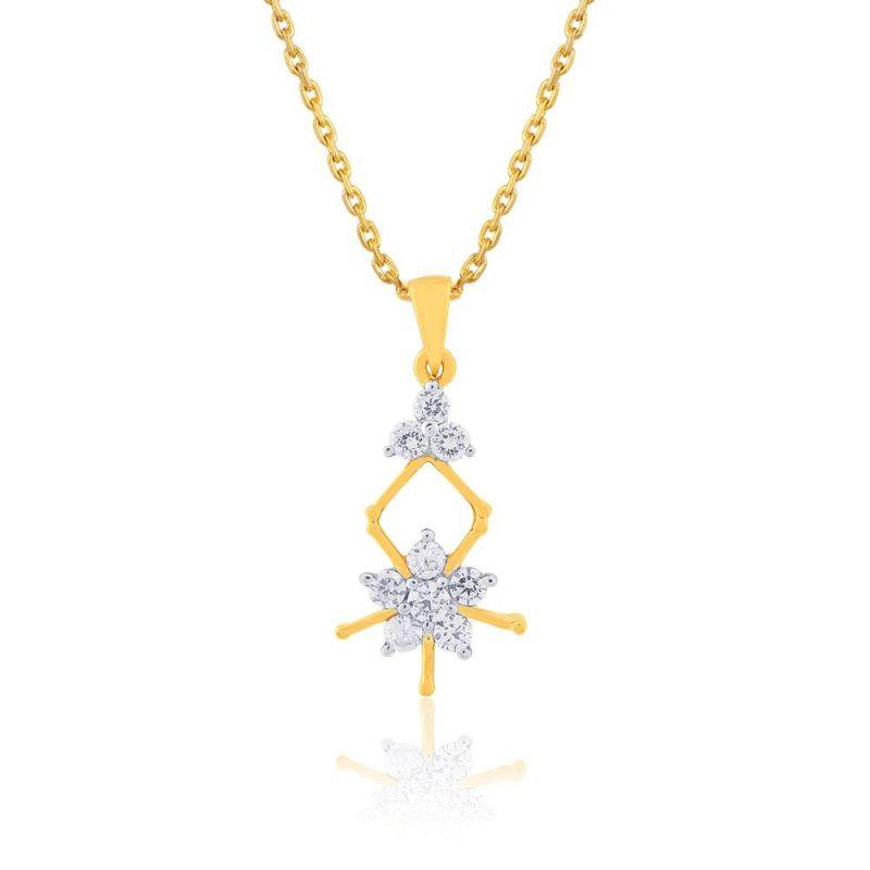 Buy Nakshatra Yellow Gold Diamond Pendant Ap152si-jk18y online