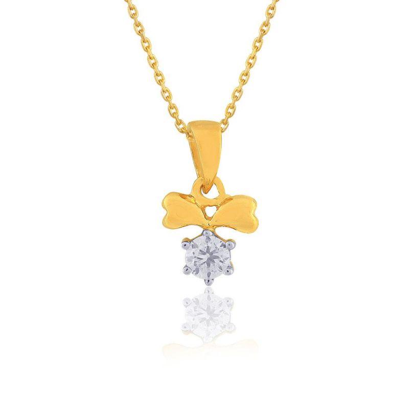 Buy Diya Yellow Gold Diamond Pendant online