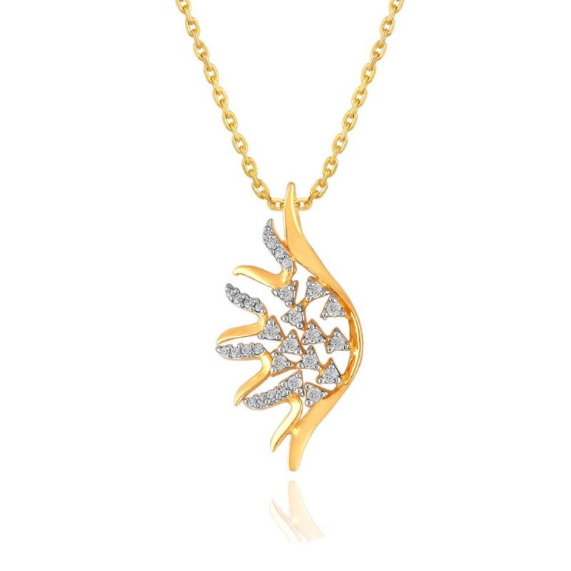 Buy Asmi Yellow Gold Diamond Pendant Bap080si-jk18y online