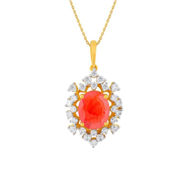 Buy Parineeta Yellow Gold Diamond Pendant online