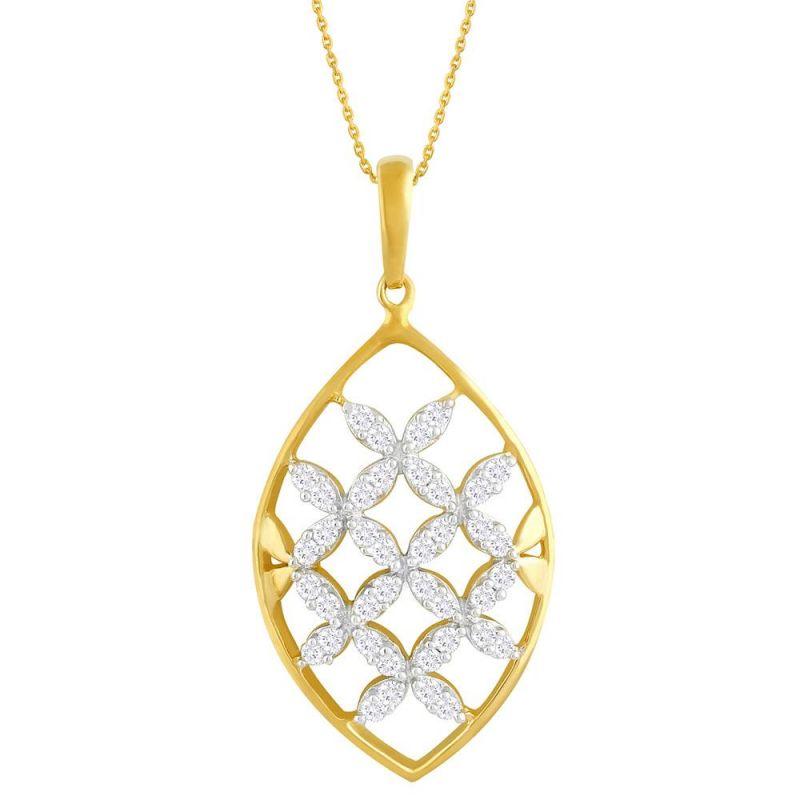 Buy Asmi Yellow Gold Diamond Pendant Ddp02959si-jk18y online