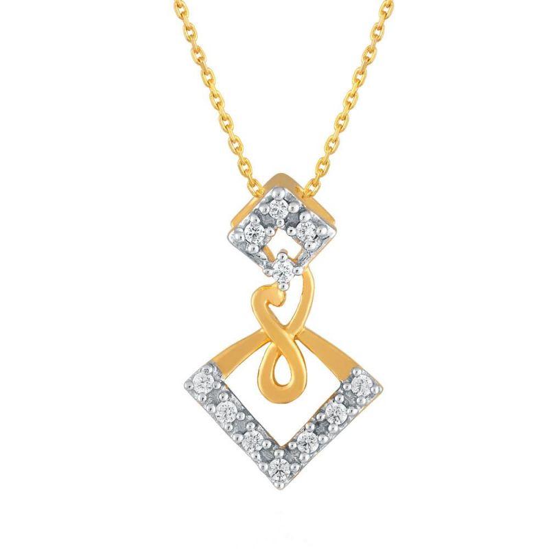 Buy Asmi Yellow Gold Diamond Pendant Idp00286si-jk18y online