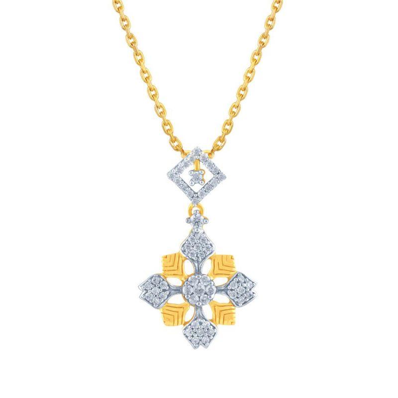 Buy Nirvana Yellow Gold Diamond Pendant Ip896si-jk18y online