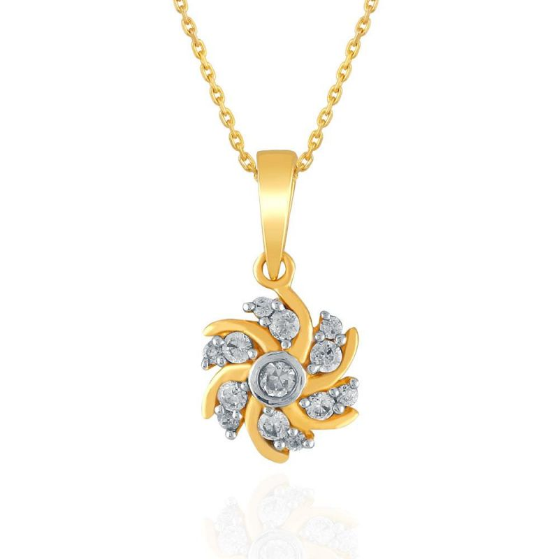 Buy Nakshatra Yellow Gold Diamond Pendant Npa245si-jk18y online